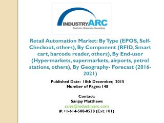 Retail Automation Market is use of various smart devices and equipment to automate the retail operations in order to low