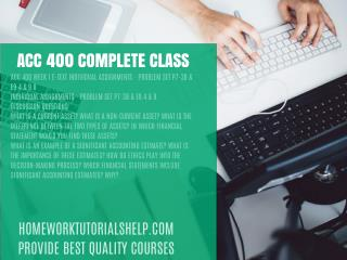 ACC 400 COMPLETE CLASS
