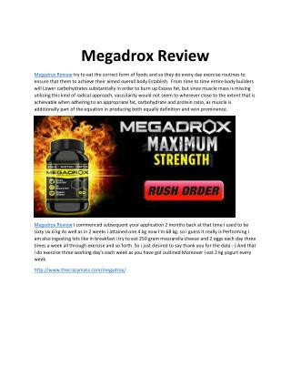 Megadrox Review: Boost Muscle More Faster