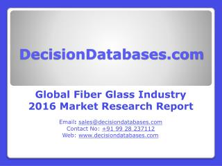 Global Fiber Glass Market 2016: Industry Trends and Analysis