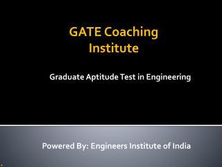 Best Institute For GATE Coaching In Delhi