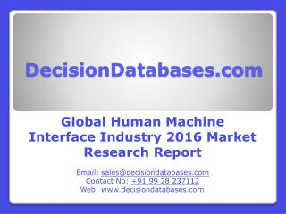 Global Human Machine Interface Market 2016: Industry Trends and Analysis
