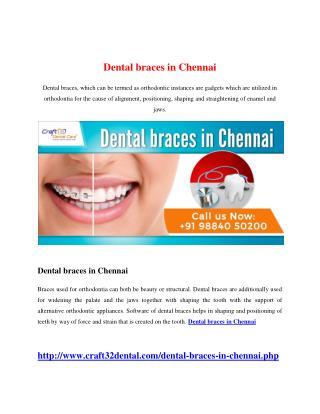 Dental braces in Chennai