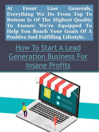 How To Start A Lead Generation Business For Insane Profits