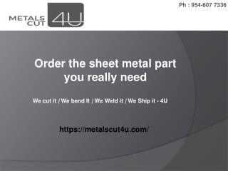 Shop Online Custom Cut Metals Sheet & Metal Product