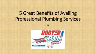5 Great Benefits of Availing Professional Plumbing Services