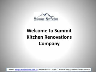 Summit Kitchen Renovations Melbourne Company