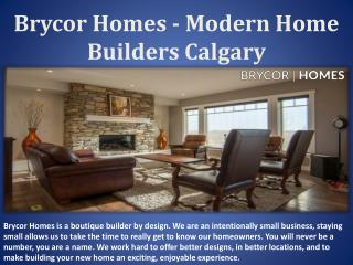 Brycor Homes - Modern Home Builders Calgary