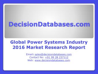 Power Systems Market Report -Global Industry Analysis
