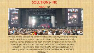 Solution INC Speakers Range