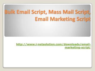 Email Marketing Script, Mass Mail Script