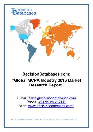 MCPA Industry 2016: Global Market Outlook