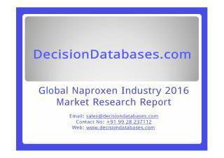 Naproxen Market Analysis 2016 Development Trends