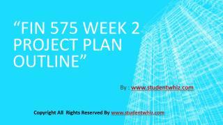 FIN 575 Week 2