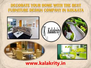Decorate your Home with the Best Furniture Design Company in Kolkata