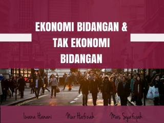 Mikroekonomi (ekonomi bidangan dan tak ekonomi bidangan)