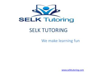 Why should choose online tutoring!