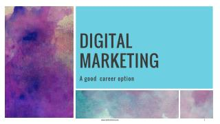 Digital Marketing As a Career