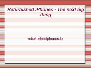 The future of the market of refurbished iPhones