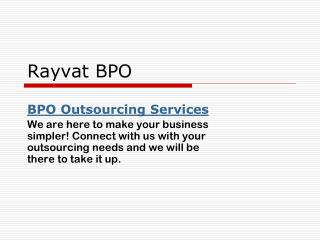 Global Business Process Outsourcing Company