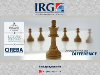 IRG is the Cayman Island's Leading Integrated Real Estate Provider
