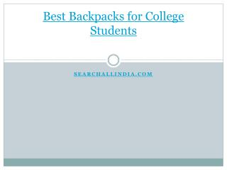 Best Backpacks for College Students
