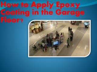 Apply Epoxy Floors Detroit