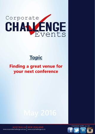 Finding a great venue for your next conference