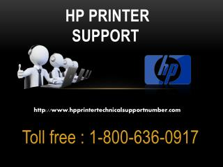 Online Technical Support for HP Printers 1-800-636-0917