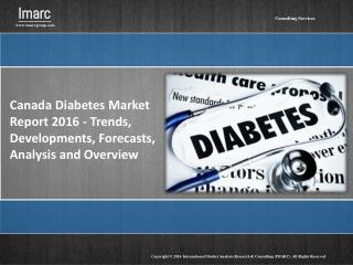 Canada Diabetes Market Report: 2016 – 2020