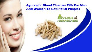 Ayurvedic Blood Cleanser Pills For Men And Women To Get Rid Of Pimples