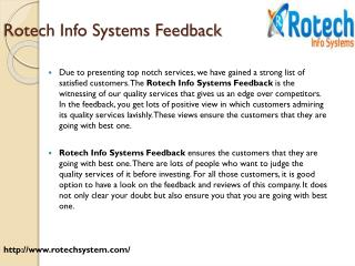 Rotech Info Systems Feedback
