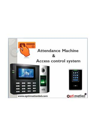 Time Attendance System & Access Control System In Bangladesh