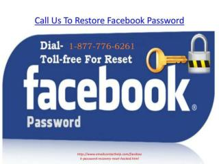 Dial Facebook Forgot Password Recovery Number 1-877-776-6261 & Reset Hacked Account