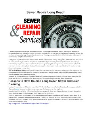 Sewer Repair Long Beach