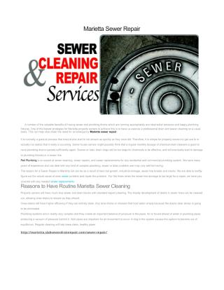 Sewer Repair Marietta GA