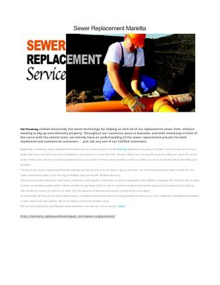 Sewer Replacement Marietta GA