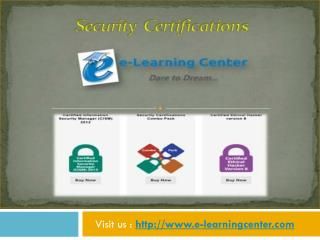 Security Certifications - e-learningcenter.com
