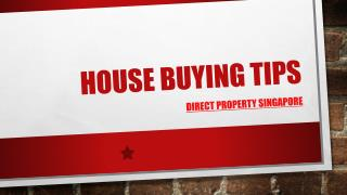 House Buying Tips in Singapore