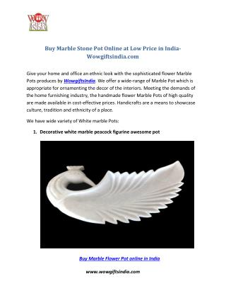 Buy Marble Stone Pot Online at Low Price in India- Wowgiftsindia.com
