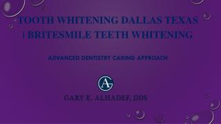 Tooth Whitening Dallas Texas | Britesmile Teeth Whitening