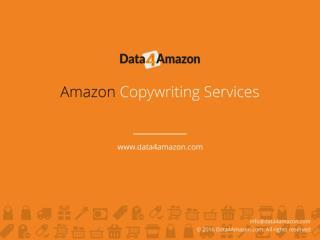 Amazon Copywriting Services - Data4Amazon