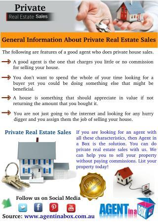 Private Real Estate Sales