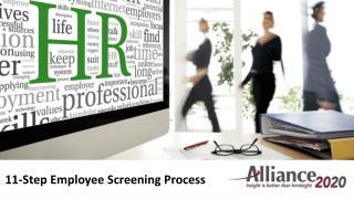 11-Step Employee Screening Process