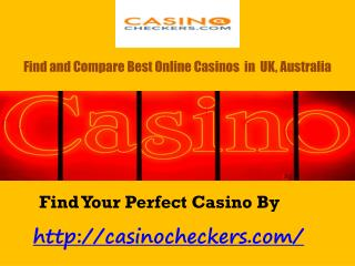 Best Online Casino Bonus By Casino Checkers