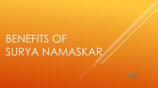 Benefis of surya namaskar