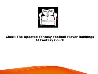 Fantasy Football Player Rankings
