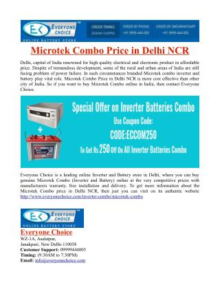 Microtek Combo Price in Delhi NCR