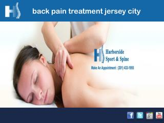 Back pain treatment jersey city