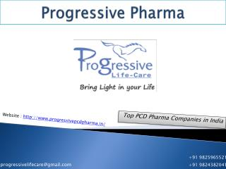 Top PCD Pharma Companies in India